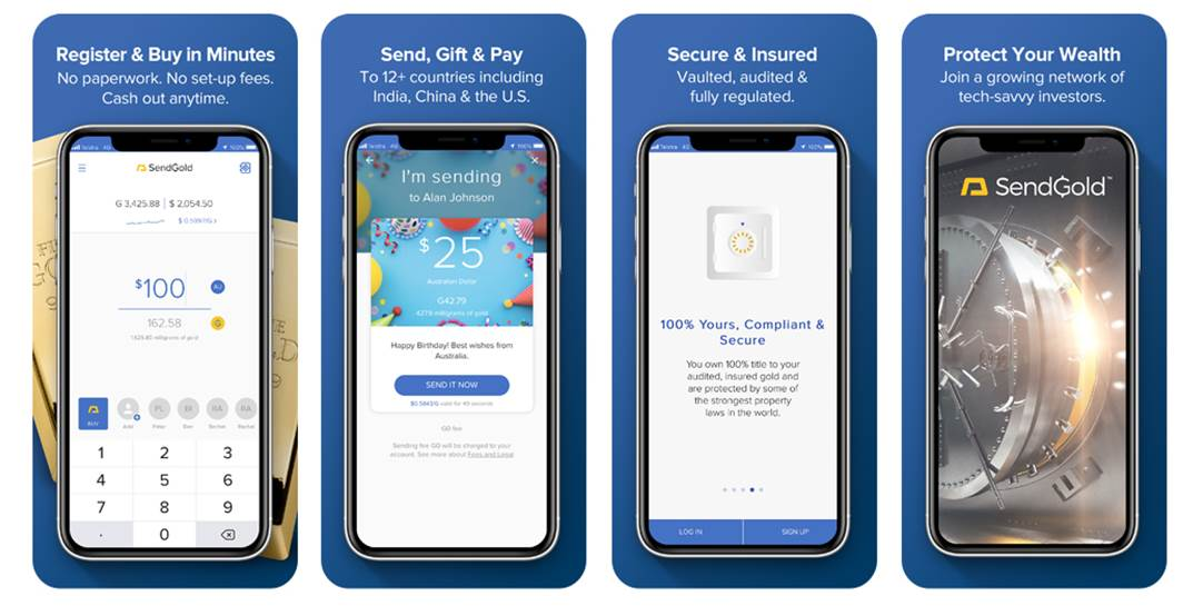 Our new SendGold app is live in the app stores - SendGold